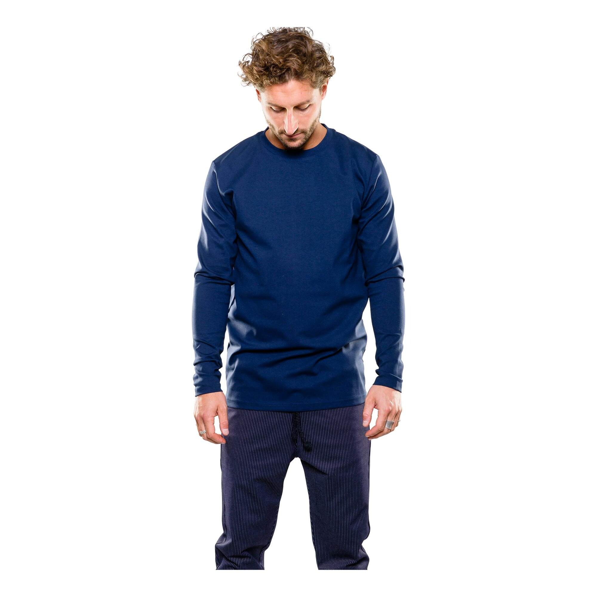 Punto longsleeve blauw - outfit