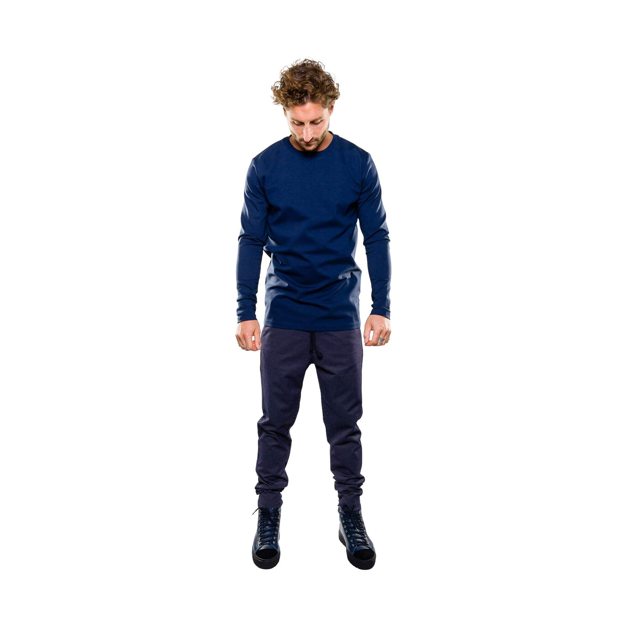 Punto longsleeve blauw - outfit1