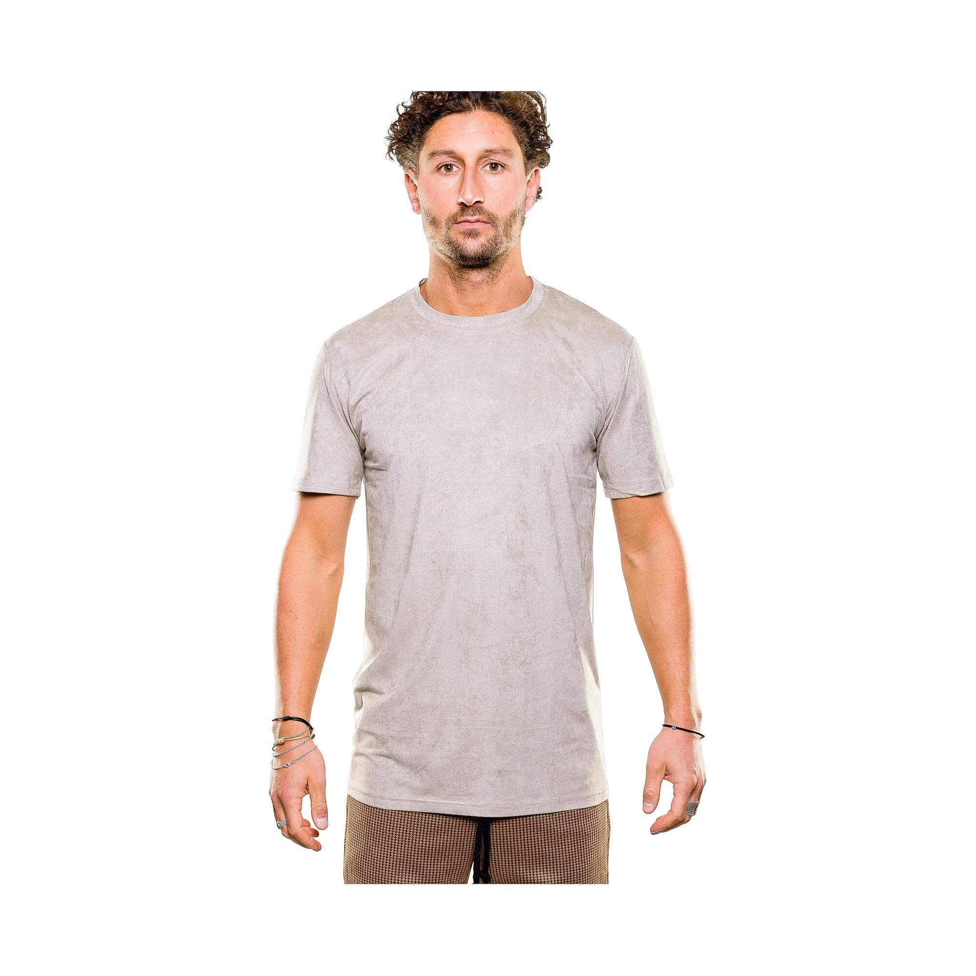 Suede tee beige - outfit