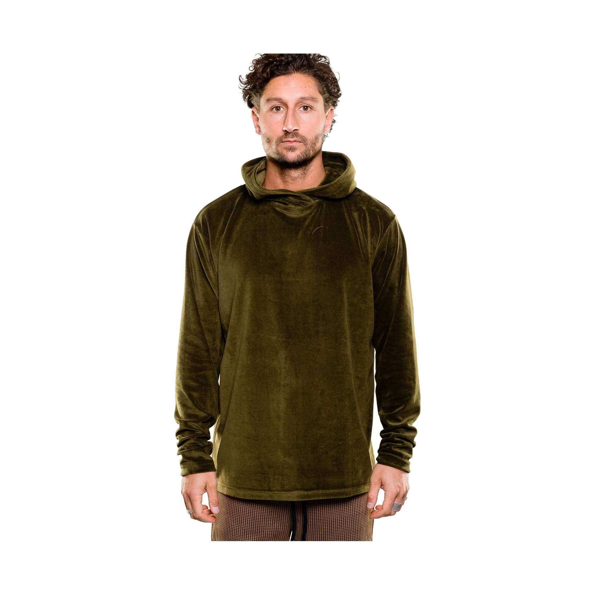 hoodie velvet groen - outfit