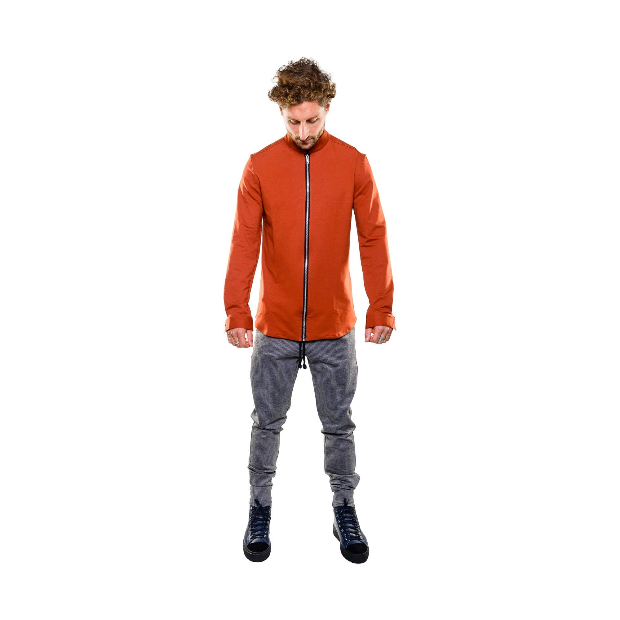 zip rood - outfit