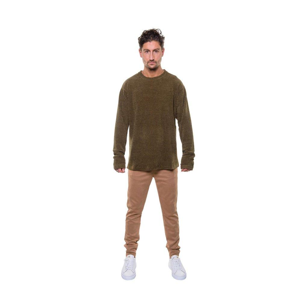 total look wool sweater green