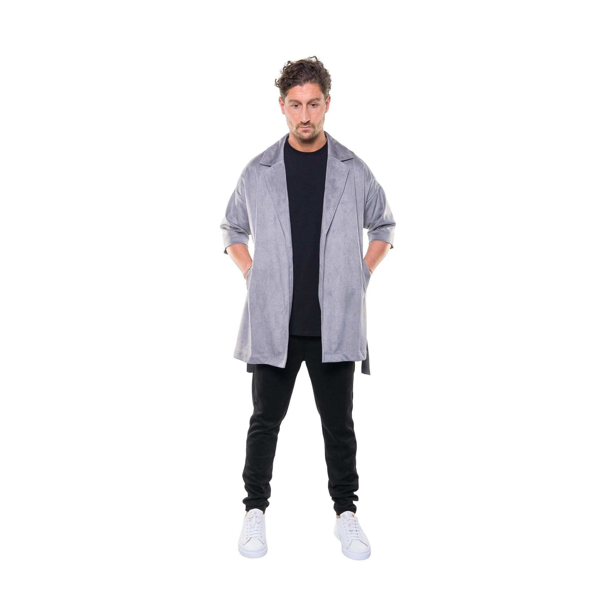 total look kimono grey