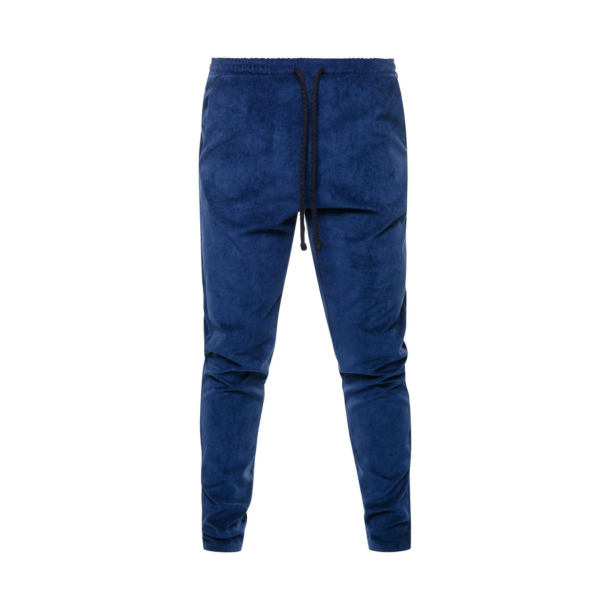 rib pants blue