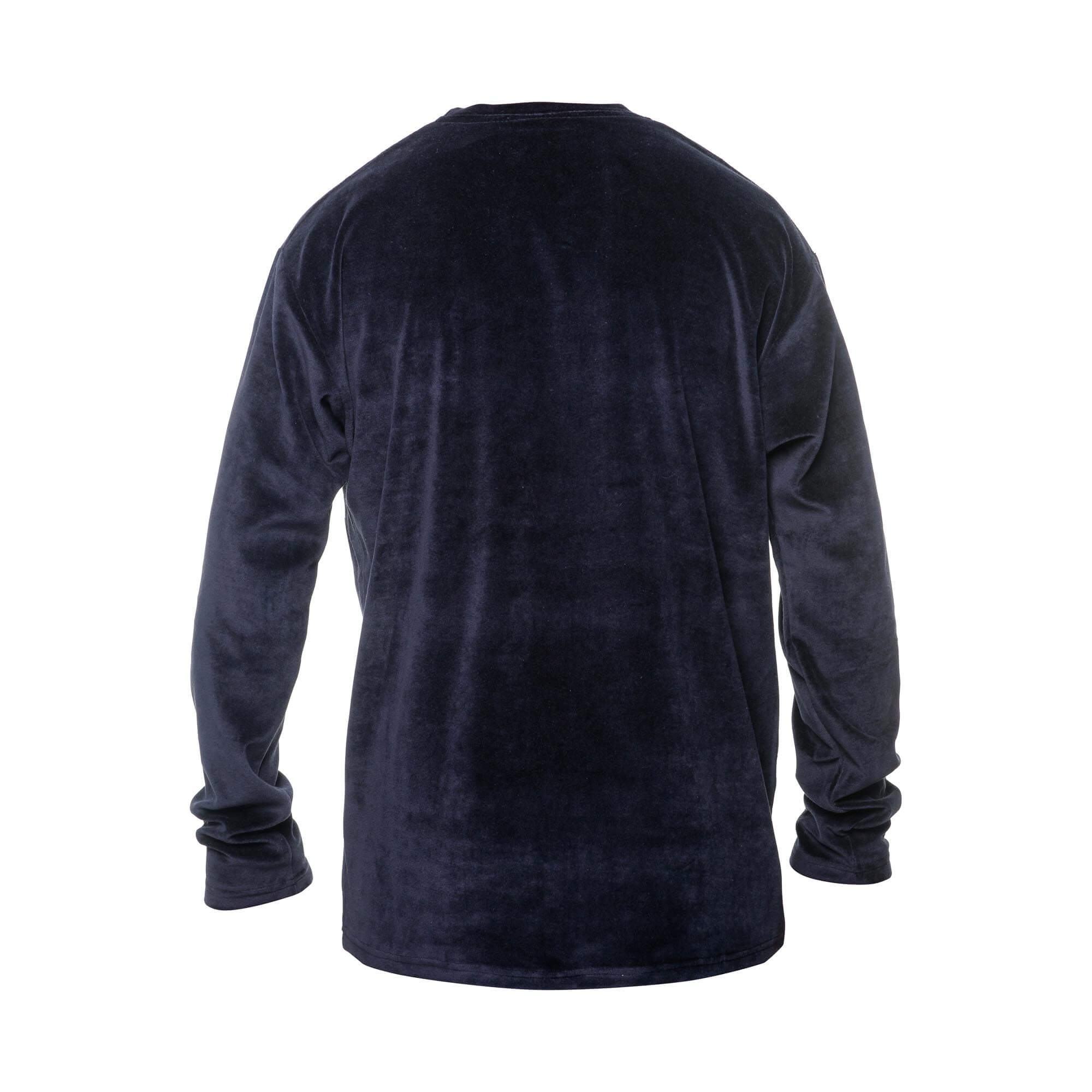 velvet sweater black back