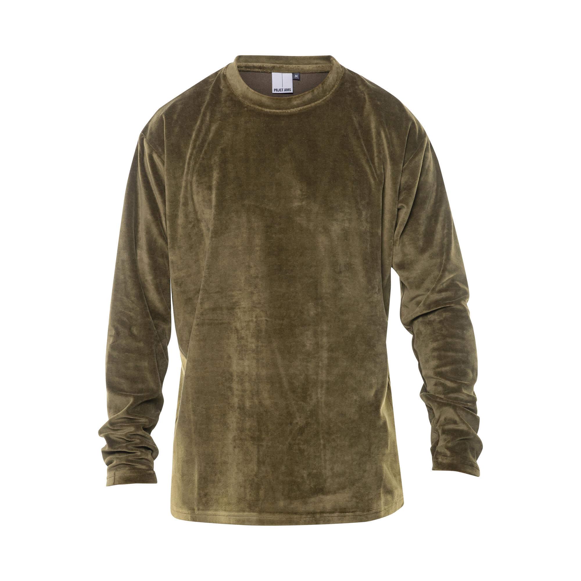 velvet sweater green