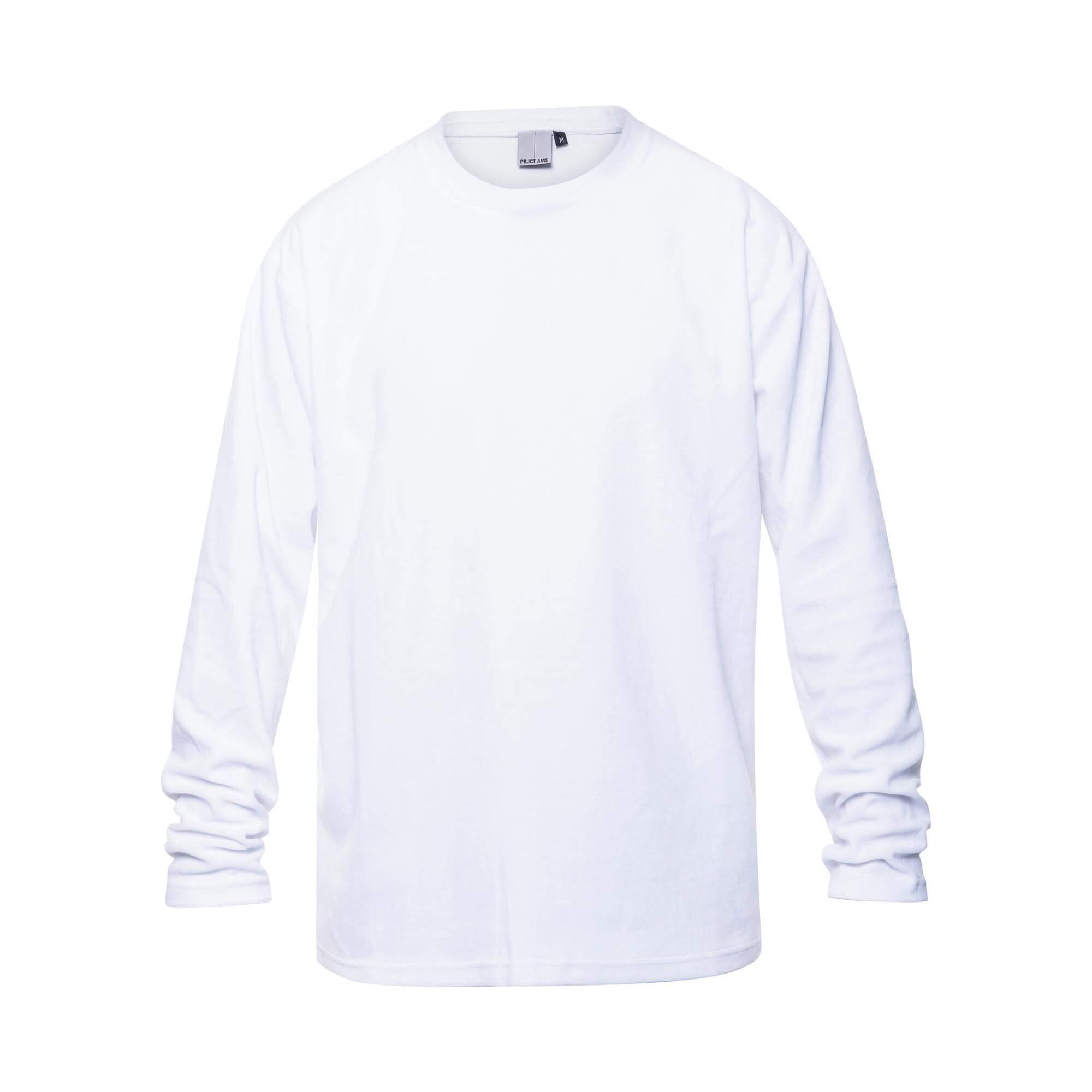 velvet sweater white